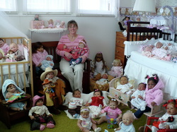 What You See At The Left Is Myself Surrounded By My Collection As Well Dolls That I Have Made Love This Room It Houses Personal And
